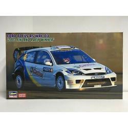 """Ford Focus RS WRC 03 """" 2003 Rally Finland Winner """". Escala 1:24. Marca Hasegawa. Ref: 20380."""