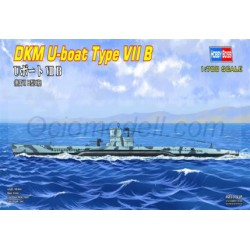 German U-boat Type Ⅶ B. Escala: 1:700. Marca: Hobby Boss. Ref: 87008.