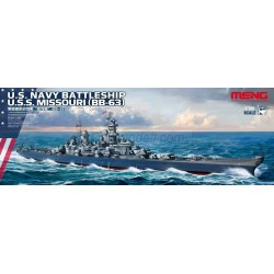 U.S. Navy Battleship Missouri (BB-63). Escala: 1:700. Marca: Meng. Ref: PS-004.