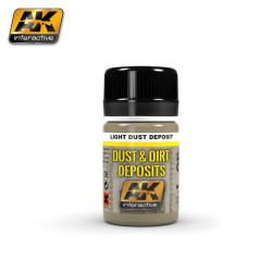 Lavado para polvo y suciedad ligera deposito, light dust deposit. Bote de 35 ml. Marca AK Interactive. Ref: AK4062.