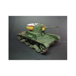 T-26 soviet light tank, 1933. Calcas españolas. Escala 1:35. Marca Zveda. Ref: 3538.