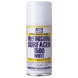 Mr. Finishing surfacer 1500 White spray. Bote 170 ml. Marca MR.Hobby. Ref: B529.