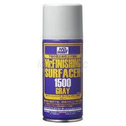 Mr. Finishing surfacer 1500 grey spray. Bote 170 ml. Marca MR.Hobby. Ref: B527.
