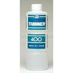Hobby color aqueous thinner. Bote 400 ml. Marca MR.Hobby. Ref: T111.