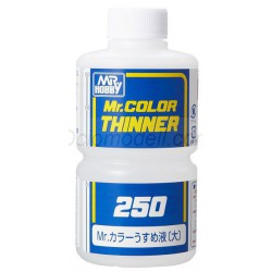 MR.color Thinner. Bote 250 ml. Marca MR.Hobby. Ref: T103.