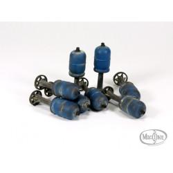 Bombonas de gas para mortero sirio. Escala 1:35. Marca Macone. Ref: MAC35012.