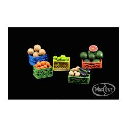 Cajas de plástico con fruta. Escala 1:35. Marca Macone. Ref: MAC35133.