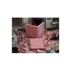 Muro de ladrillo. 6 piezas. Escala 1:32 y 1:35. Marca Juweela. Ref: 23317.