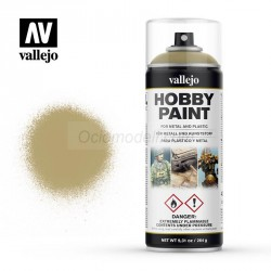 Surface Primer, Imprimación Uniforme U.S. Khaki. Spray 400 ml. Marca Vallejo. Ref: 28009.