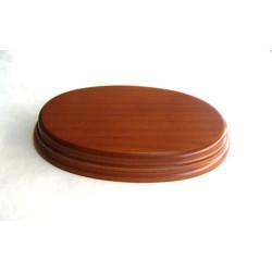 PEANA ovalada 22 mm Altura, parte superior 26 x 18 cm, Fabricada en MDF , lacado Avellana. Marca Peanas.net. Ref: 8042A.
