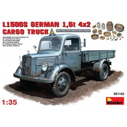 MB 1500S GERMAN 1,5t CARGO TRUCK. Escala 1:35. Marca Miniart. Ref: 35142.