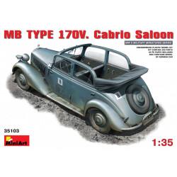 MB TYPE 170V. CABRIO SALOON. Escala 1:35. Marca Miniart. Ref: 35103.