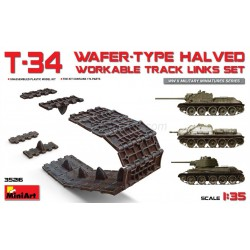 T-34 WAFER-TYPE HALVED WORKABLE TRACK LINKS SET. Escala 1:35. Marca Miniart. Ref: 35216.