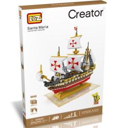 Navío Santa Maria Loz 2660 piezas. Kit construcción blocks. Marca Loz. Ref: 9048.