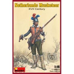 Figura NETHERLANDS MUSKETEER XVII. Escala 1:16. Marca Miniart. Ref: 16010.