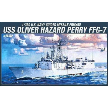 USS OLIVER HAZARD PERRY FFG-7. Escala: 1:350. Marca: Academy. Ref: 14102.