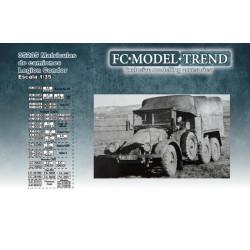 Calcas Matrículas de camiones de la Legión Condor. Escala 1:35. Marca Fcmodeltips. Ref: 35235.