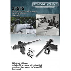 M2 Browning articulated mount for M8 greyhound. Escala 1:35. Marca FCmodeltrend. Ref: 35555.