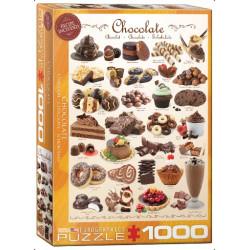 Chocolate. Puzzle vertical, 1000 pz. Marca Eurographics. Ref: 6000-0411.