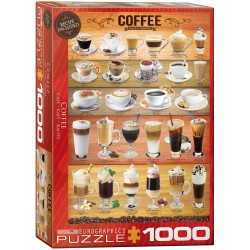Coffee. Puzzle vertical, 1000 pz. Marca Eurographics. Ref: 6000-0589.