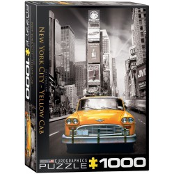 New York city yellow cab. Puzzle vertical, 1000 pz. Marca Eurographics. Ref: 6000-0657.