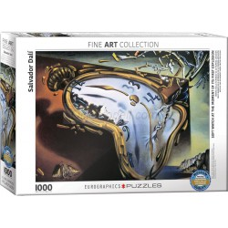 Soft Watch at moment of first explosion por Salvador Dalí. Puzzle horizontal, 1000 pz. Marca Eurographics. Ref: 6000-0842.
