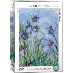 Irises de Claude Monet. Puzzle vertical, 1000 pz. Marca Eurographics. Ref: 6000-2034.