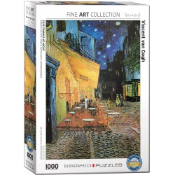 Cafe terrace at night por Vicent Van Gogh. Puzzle vertical, 1000 pz. Marca Eurographics. Ref: 6000-2143.