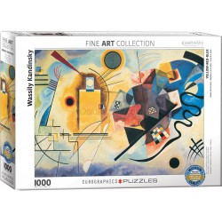 Yellow Red Blue por Wassily Kandinsky. Puzzle vertical, 1000 pz. Marca Eurographics. Ref: 6000-3271.