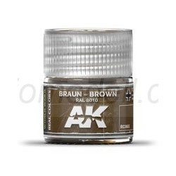 RC WWII, Braun brown RAL 8010. Cantidad 10 ml. Marca AK Interactive. Ref: RC065.