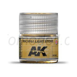 RC WWII, BSC Nº61 light stone. Cantidad 10 ml. Marca AK Interactive. Ref: RC040.