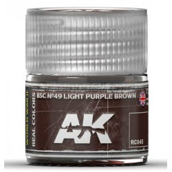 RC WWII, BSC Nº49 light purple brown. Cantidad 10 ml. Marca AK Interactive. Ref: RC045.