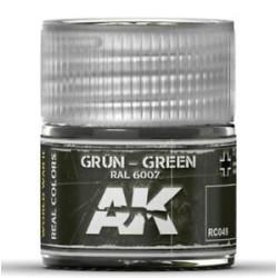 RC WWII, Grün green RAL 6007. Cantidad 10 ml. Marca AK Interactive. Ref: RC049.