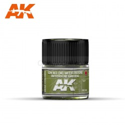 RC Air, IJN M3 (M) MITSUBISHI Interior Green. Cantidad 10 ml. Marca AK Interactive. Ref: RC306.