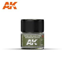 RC Air, IJN M3 (N) NAKAJIMA Interior Green. Cantidad 10 ml. Marca AK Interactive. Ref: RC307.