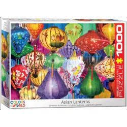 Asian Lanterns. Puzzle vertical, 1000 pz. Marca Eurographics. Ref: 6000-5469.
