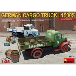 L1500S GERMAN CARGO TRUCK. Escala 1:35. Marca Miniart. Ref: 38014.