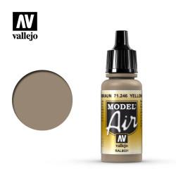 Acrilico Model air Sandbraun, Yellow brown. Bote 17 ml. Marca Vallejo. Ref: 71.246.