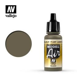 Acrilico Model air helloliv, light olive. Bote 17 ml. Marca Vallejo. Ref: 71.247.
