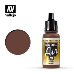 Acrilico Model Air rotbraun, marrón rojizo alemán. Bote 17 ml. Marca Vallejo. Ref: 71.271.