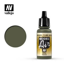 Acrilico Model air US verde oscuro, US dark green. Bote 17 ml. Marca Vallejo. Ref: 71.289.