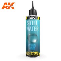 Producto weathering, Still water. Bote de 250 ml. Marca AK Interactive. Ref: AK8008.