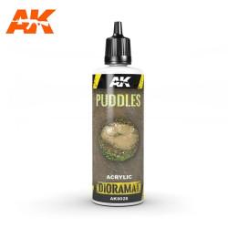 Producto weathering, Puddles, charcos. Bote de 60 ml. Marca AK Interactive. Ref: AK8028.