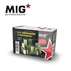 U.S. CONTAINERS & RECIPIENTS, Recipientes y contenedores US. Escala 1:35. Marca Mig productions. Ref: MP35-412.