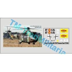 """Calcas del helicóptero Euocopter AS332 """" ET-515 """". Escala 1:72. Marca Trenmilitaria. Ref: 000_5048."""