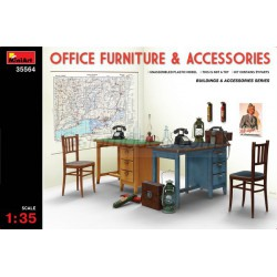 Accesorios, Mobilario de oficina y complementos. Escala 1:35. Marca Miniart. Ref: 35564.