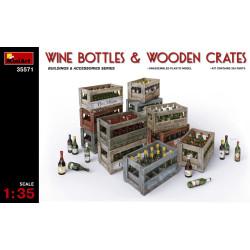 Accesorios, Cajas de botellas de vino. Escala 1:35. Marca Miniart. Ref: 35571.