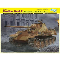 Panther Ausf.F w/Night Sight and Air Defense Armor. Escala 1:35. Marca Dragon. Ref: 6917.