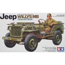 US Jeep willys MB 1/4 ton. Escala 1:35. Marca Tamiya. Ref: 35219.