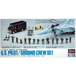 Set US Pilot / Ground Crew. Escala 1:72. Marca Hasegawa. Ref: X72-7 (35007).